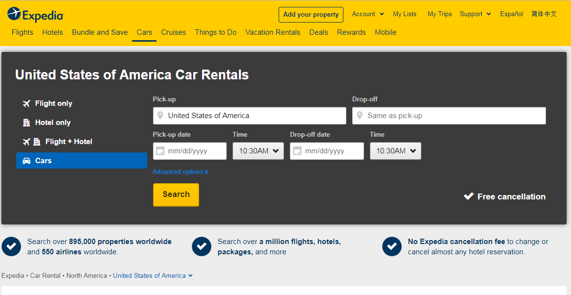 Top 10 Car Rental Service in United States 4