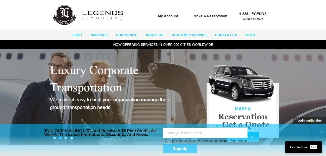 Legends Limousine