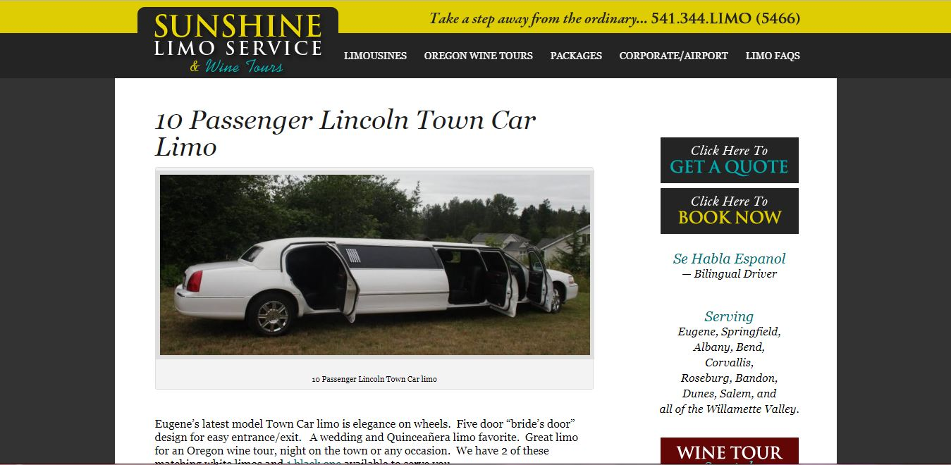 Sunshine Limo Service and Wine Tours