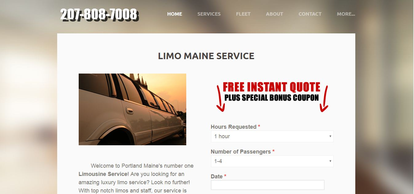 LIMO MAINE SERVICE